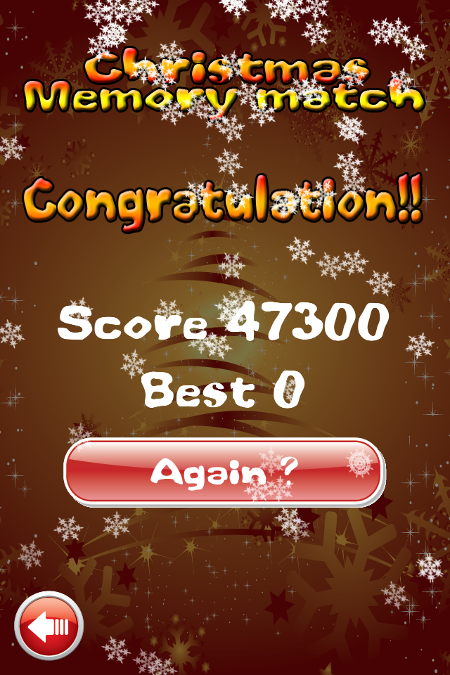 Screenshot Christmas – Memory Match Game